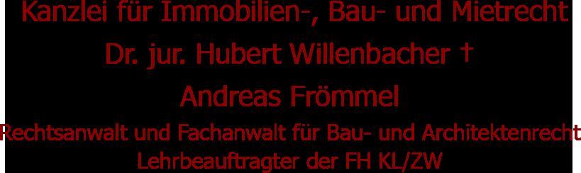 Rechtsanwalt Andreas Frömmel